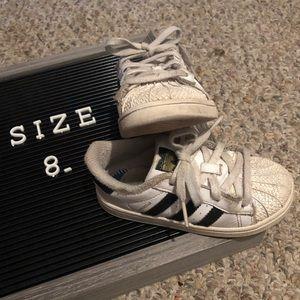 Adidas White Toddler 8